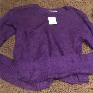NWT urban purple see through sweater size med